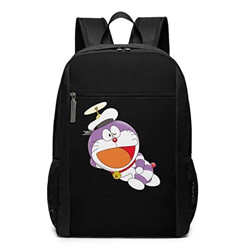 Hdadwy Funny Fashion Unisex Doraemon Purple Sailor Mimeograph Computer Knapsack Black 17