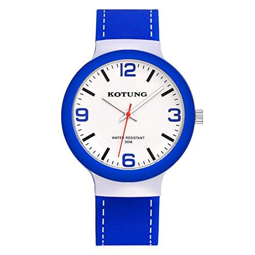 Reloj de Cuarzo electrónico de silicio Chicas/Jóvenes Impermeable Reloj/Reloj Deportivo Casual-C
