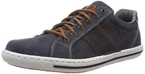 Rieker Herren 19011-14 Sneaker, Blau (Navy/Amaretto/Navy 14), 45 EU