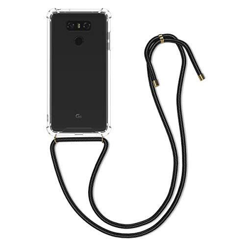 kwmobile Hülle kompatibel mit LG G6 - mit Kordel zum Umhängen - Silikon Handy Schutzhülle Transparent