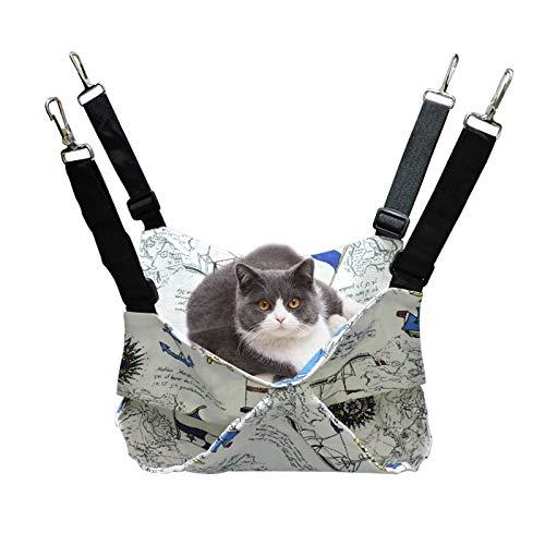 Andiker Soft Cage pour Chat Hamac, Lit Double Suspendu Confortable, Lit de Couchage Durable pour Chat, Lapin, Hamster, Furet (M)