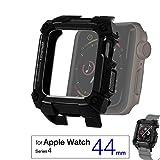 エレコム Apple Watch ZEROSHOCKケース 【 SE Series 6 / 5 / 4 [ 44m ] 】 ブラック AW-44ZEROBK