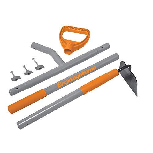 ERGIE SYSTEMS ERG-GHOE625 ErgieShovel 12-Gauge, 54 Steel Shaft, 6.25-Inch Shank Pattern Blade Garden Hoe, Gray/Orange