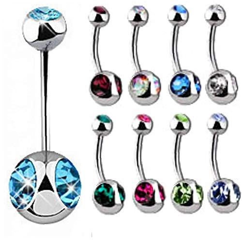 10 Pcs 18g 1.0mm Belly Button Body Jewelry Piercing Navel Ring Earrings Hd74