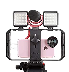 Ulanzi U Rig Pro Smartphone Video Rig, Phone Filmmaking Case Video Stabilizer Grip Tripod Mount for Videomaker Film-Maker Videographer Compatible iPhone X 8 Plus Sumsang