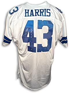 Autographed Cliff Harris Dallas Cowboys Throwback White Jersey Inscribed