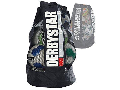 Derbystar Ballsack 10 Fußbälle große Balltasche Ballnetz Fußball Handball Basketball schwarz ca.75x43 cm (Lieferung ohne Inhalt)