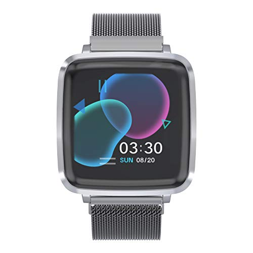 Smartwatch Reloj Inteligente con oxígeno y Monitor de frecuencia cardíaca IP68 Podómetro Medidor de Calor Reloj Deportivo para Hombres Mujeres, Llamadas/SMS Notificación para iOS Android…
