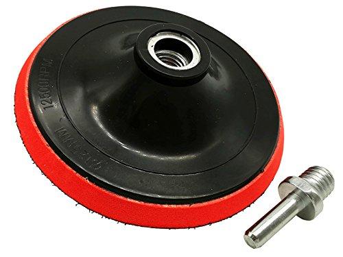 Schleifteller Ø 125 mm Klett M14 inkl.Spanndorn für Winkelschleifer & Akkuschrauber Klettteller Polierteller
