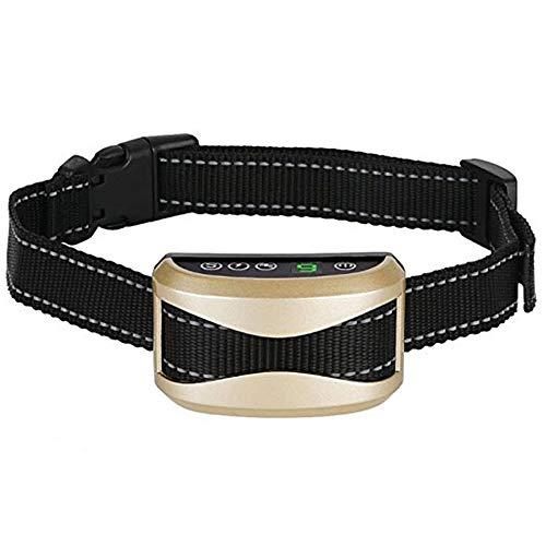 Antibell Halsband Hund, Erziehungshalsband mit 7 Empfindlichkeit, Wiederaufladbaren Wasserdichten Trainingshalsband mit Vibration und Piepton für Kleine Mittel Große Hunde