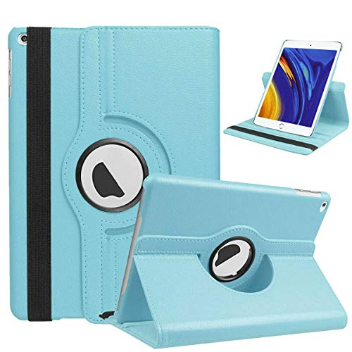 Mobistar iPad 10.2 Case, Case for iPad 10.2 2019, 360 Degree Rotating iPad 10.2 rotating case, Apple iPad 10.2 Cover with Multiple Viewing Angles (Sky Blue)
