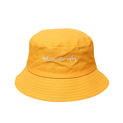 HWY Summer Flat Fischerhut Sonnenschutzzone Hüte Sonnenschutzkappe (Stickmuster)