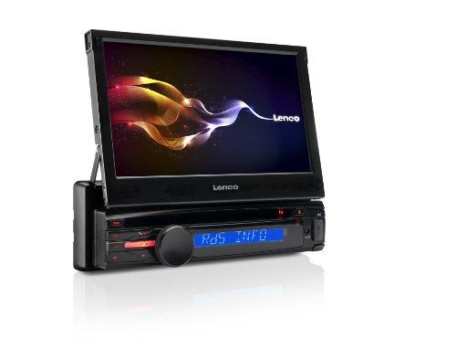 Lenco CS-470 DVD Auto-Radio (17,8 cm (7 Zoll) LCD-Display, AM/FM, DVD/CD-Spieler, RDS, Bluetooth, USB) schwarz