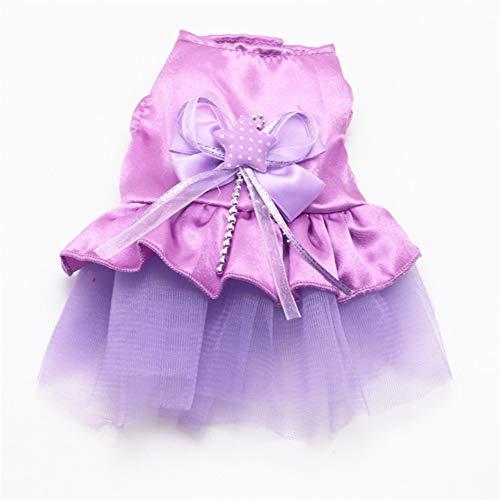 Geeignet Milch Minirock Hund Brautkleid Hund kleidet Haustierkleid Behalten (Color : Purple, Size : XS)