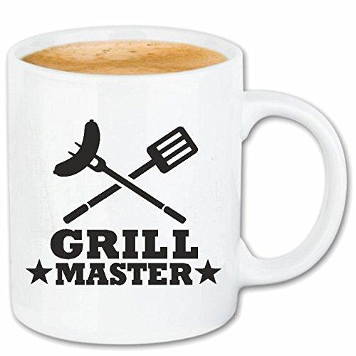 Reifen-Markt Kaffeetasse Grill Master - Grillen - Grill - BBQ - Steak Keramik 330 ml in Weiß