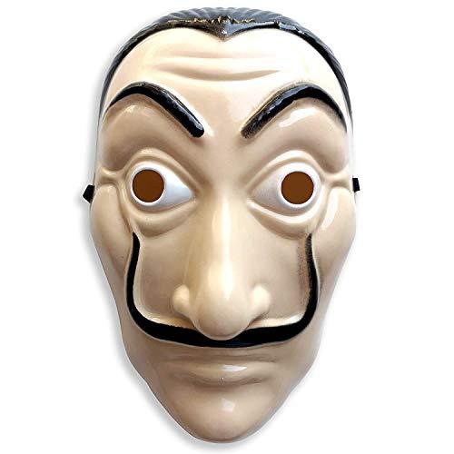 INTVN Maske Salvador Dalí 3 x Maske Kostüm Haus des Geldes Verkleidung casa del Papel Bella Ciao Haus für Herren, Damen - Fasching, Karneval, Halloween