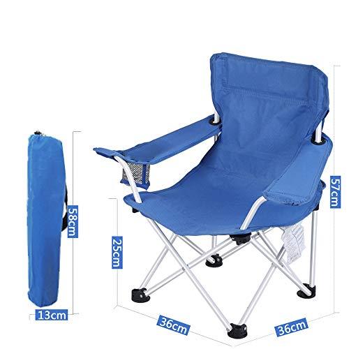 DASGF Opvouwbare campingstoel, strandvouwstoel, opklapbare kleine Mazza, kinderstoel voor buiten, vouwstoel, ideaal voor kamperen/wandelen/reizen/jagen/vissen