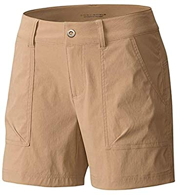 "Columbia Women's Kestrel Trail Omni-Shield Stretch Shorts (6 / Inseam 6"", Khaki)"