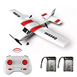 MOSTOP RC Plane, 2.4GHz Remote Control Airplane Ready to Fly, 2 Channel EPP Foam RC Aircraft 6 Axis Gyro Glider Outdoor Remote Control Plane for Child Kids Beginner