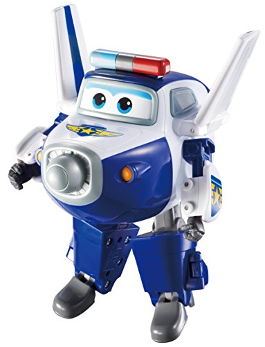 Super Wings - Transforming Paul Toy Figure, Plane, Bot, 5' Scale