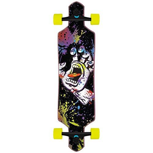 "Santa Cruz Longboard Complete Hand Splatter Drop Through Black 9.0"" x 36"""