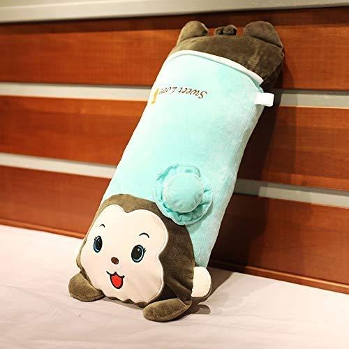 Juguete de peluche de animales largos, lindo bebé almohada verde y rosado Cojines de muñeca suaves grandes cojines abrazos de cudimiento de juguete de juguete de regalo relleno para niños y niñas niño