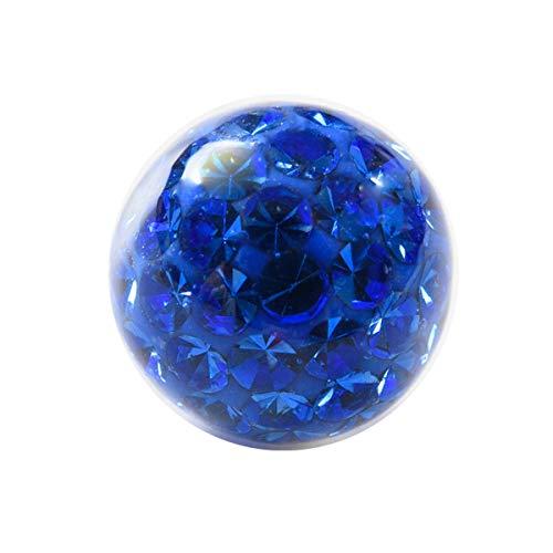(ボディスタイル)ボディピアス 6mm 18G 16G 14G コーティング パヴェ キャッチ パーツ ボール ネジ式 軟骨ピアス 軟骨用 へそピアス かわいい (14G ブルー)
