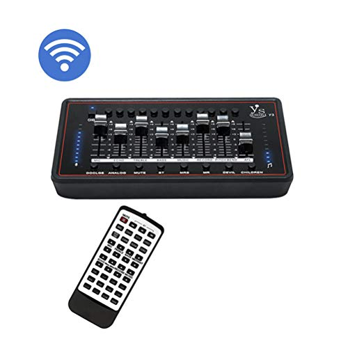 Bluetooth Audio Interface, Pro Audio Box Geluidskaart Audio Mixer Board Audio Adapter Multiple Sound Effects voor opname Speech Karaoke YouTube Live