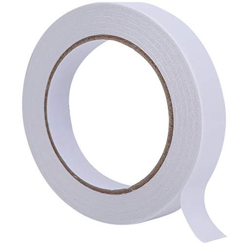 【 接着しにくい素材に特化 】WhiteLeaf スポンジ用 超強力両面テープ 15mm×20m 吸音材 緩衝材 ウレタン フェルト 布 発泡スチロール の貼り付けに