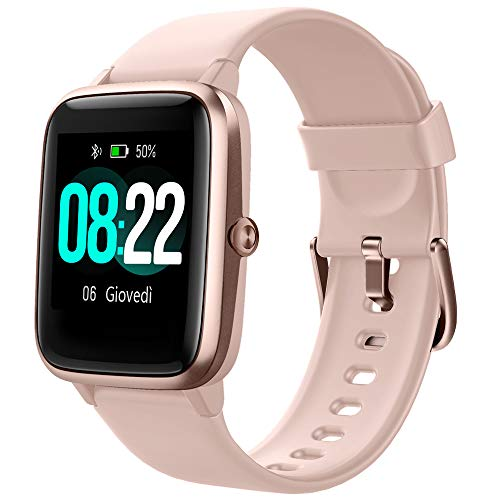 YAMAY Smartwatch Orologio Fitness Donna Uomo Smart Watch Android iOS Contapassi Cardiofrequenzimetro da polso ECG Orologio Sportivo Bluetooth Touch Conta Calorie Activity Tracker IP68 con Cronometri