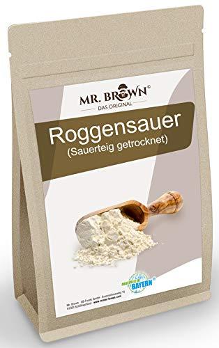 Mr. Brown Roggensauer Trockensauer (Sauerteig getrocknet) 1kg | Brot selber backen | Roggenmehl | Mehl Sauer getrocknet