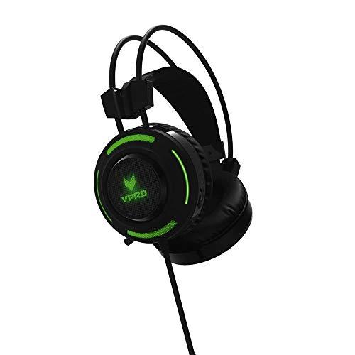 Rapoo VH200 Beleuchtetes Gaming-Headset mit LED-Beleuchtung und individuellen Klangmodi, schwarz