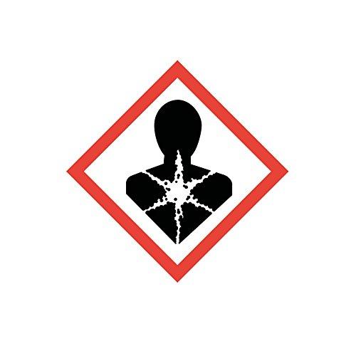 easydruck24de Gefahrstoffaufkleber GHS08: Gesundheitsschädlich, hin_147, 10x10cm, Gefahrstoffsymbol, GHS-Kennzeichnung, Achtung, Warnung, Vorsicht, Hinweis