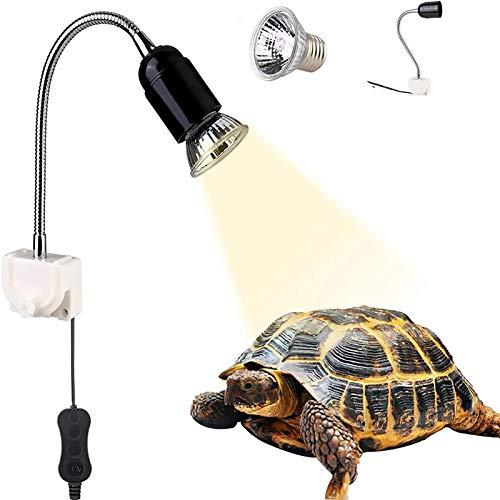 GOLDGE Lampara para Tortuga, Bombilla compacta Spectrum Terrario Lampara de Tortuga, 360 Grados Adecuado para Tortugas Reptiles Anfibios, 25W
