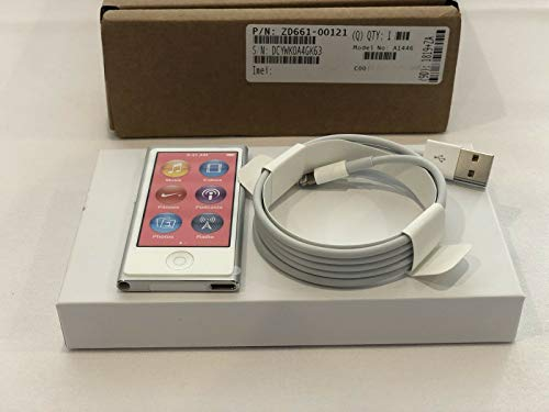Apple Ipod Nano 7. Generation 7G Silber Weiss 16GB White & Silver ( Aktuellstes Modell)