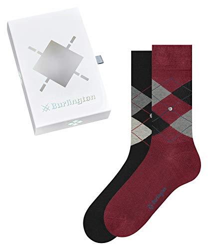Burlington Herren Basic Gift Box M SO Socken, Mehrfarbig (Sortiment 0030), 40-46 (UK 6.5-11 Ι US 7.5-12) (2er Pack)