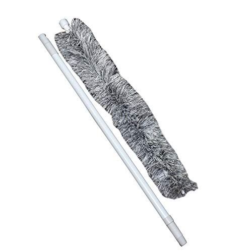 Fiber Feather Duster - Retractable Staubentfernung, Dicke weiche Federn - Durable Ergonomische Holzgriff - Easy Efficient Abstauben (Color : A)