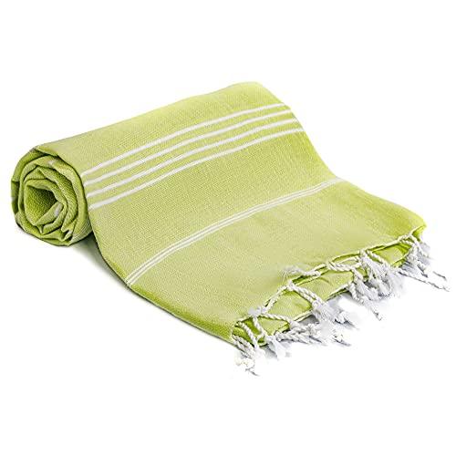 Stor turkisk peshtemal-badhandduk – hammam-handduk idealisk för bastu, spa, yoga och strand –...