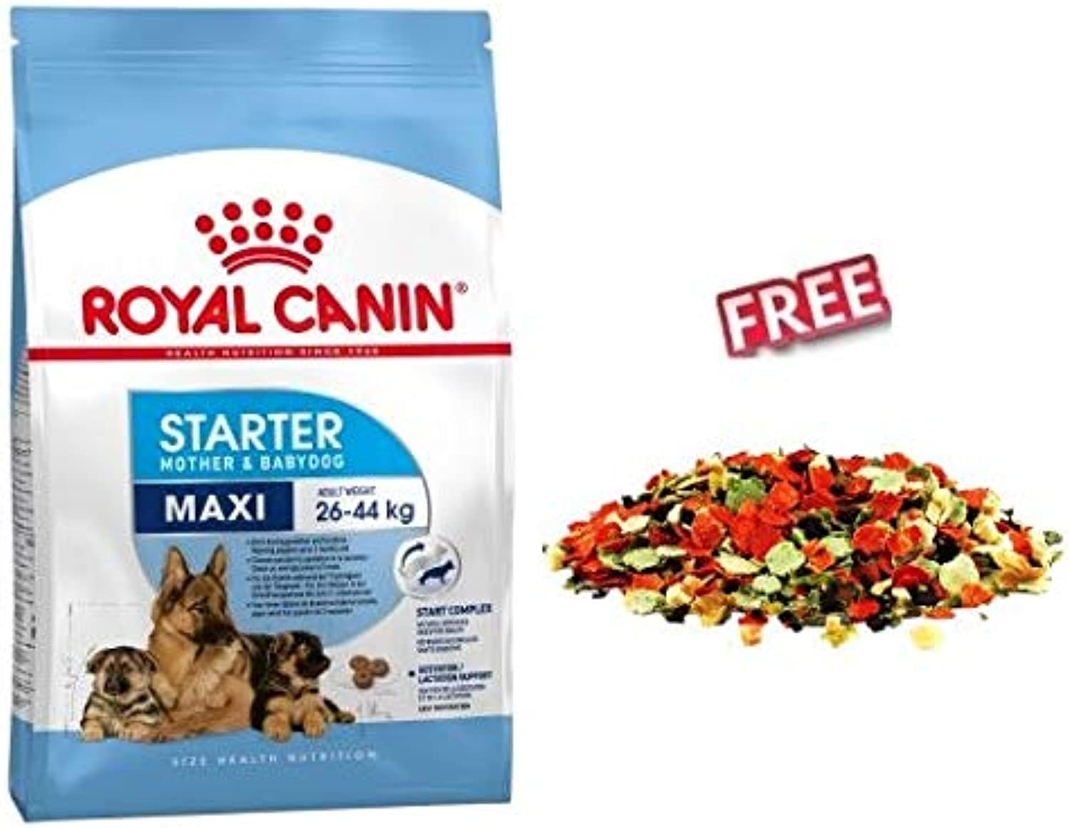 Royal Canin Maxi Starter Mother & Babydog 2 x 15kg for Pregnant & Lactating Dogs & Puppies in Weaning Phase up to 2 Months FREE Dibo Fruit & Vegetable Mix