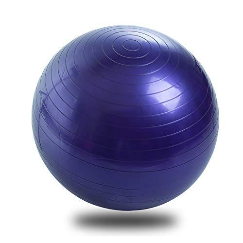 XIAMIMI Umweltschutz und Neue Materialien PVC Fitness-Ball Verdickung Explosion Schwangere Frau geformt aufblasbaren Ball Yoga Ball Yoga Ballpumpe,Lila,65cm