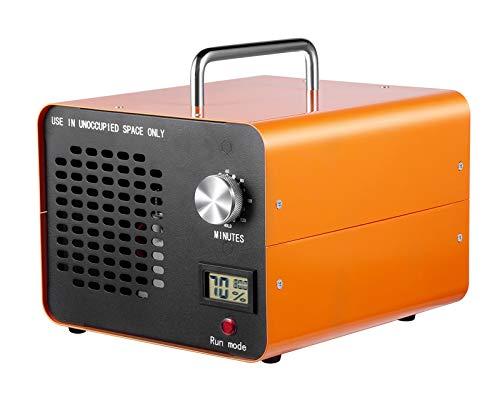 DONGQIMI Generador de ozono Industrial, 10.000 MG/h, Limpiador de ozono Comercial, Dispositivo de ozono para Habitaciones, Humo, Coches y Mascotas