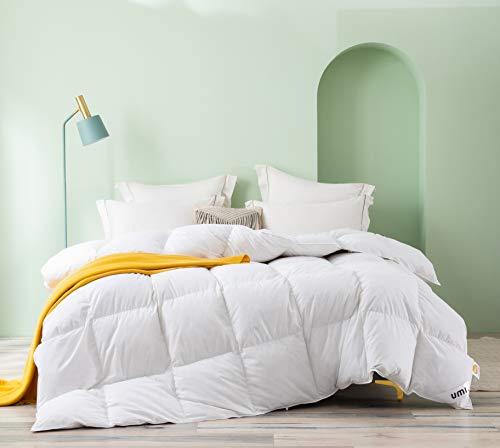 Amazon Brand - Umi Edredón nórdico 100 % algodón Relleno de plumón de Ganso con Aroma a Rosas, Valor TOG: 10,5, Cama Individual, 135 x 200 cm