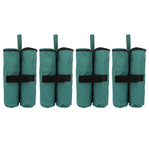 Bolsas de peso de 4 piezas para toldo emergente, bolsa de arena de peso reutilizable a prueba de viento al aire libre Accesorio de base de fijación resistente, para carpas, cobertizos publicitarios