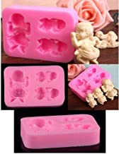 RETAIL SUPPLIES Cake Decor 3 Cavity Silicon Sleeping Baby Fondant Mold