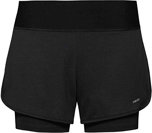 Head Stance - Pantalones cortos de tenis para mujer, color azul, Stance, azul, small