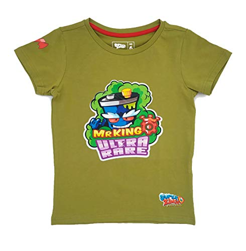 SuperZings Mr King Verde, 4-5 años Camiseta, 4 para Niños