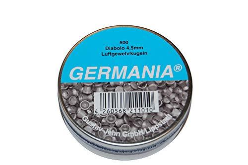 Jehn Germania Diabolokugeln 4, 5mm 500er Pack, grau, Dose