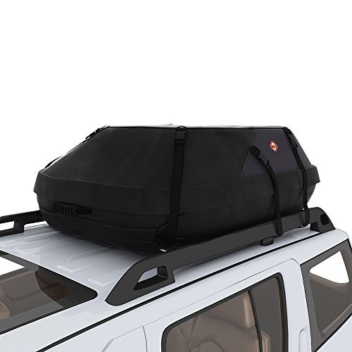 Car Roof Bag & Rooftop Cargo Carrier, 20 Cubic Feet Heavy Duty Bag Waterproof Excellent Quality Rooftop Car Bag Fits All Cars with/Without Rack - 8 Reinforced Straps and Storage Carrying Bag Included