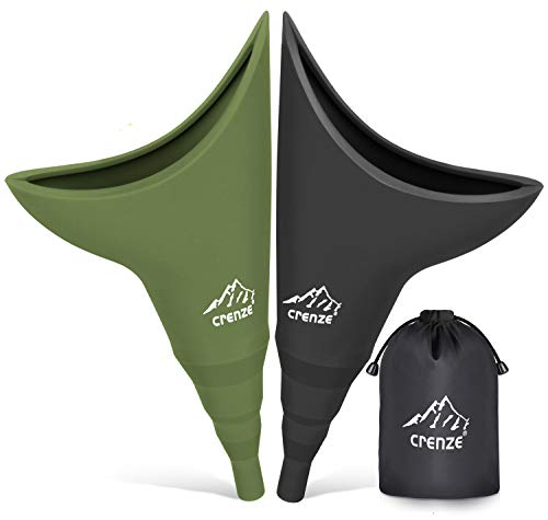 Rquite Female Urinal-Female Urination Device, Reusable Silicone Funnel Urine Cups, Portable Urinal for Women to Pee Standing Up, Suitable for Camping, Hiking,Boating, Outdoor Activities (2 Packs)
