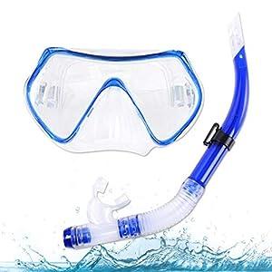 Máscara de Snorkel, Snorkel Set, de Buceo con tecnología Anti-Niebla y Anti-Fugas, con Montaje de Cámara Snorkel Premium Set, para Adultos y niños